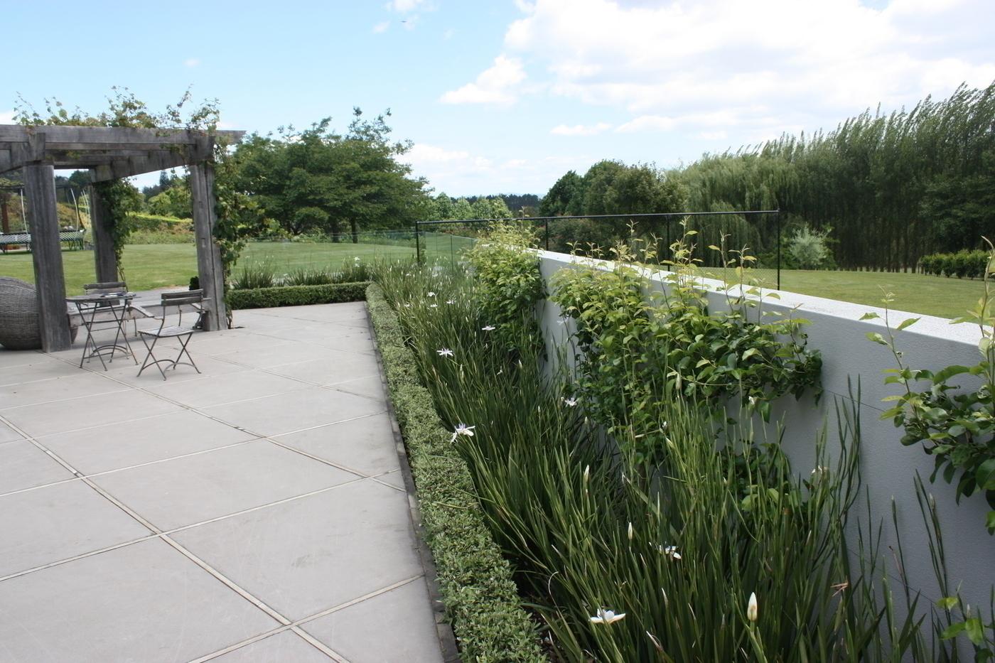 Family rural garden