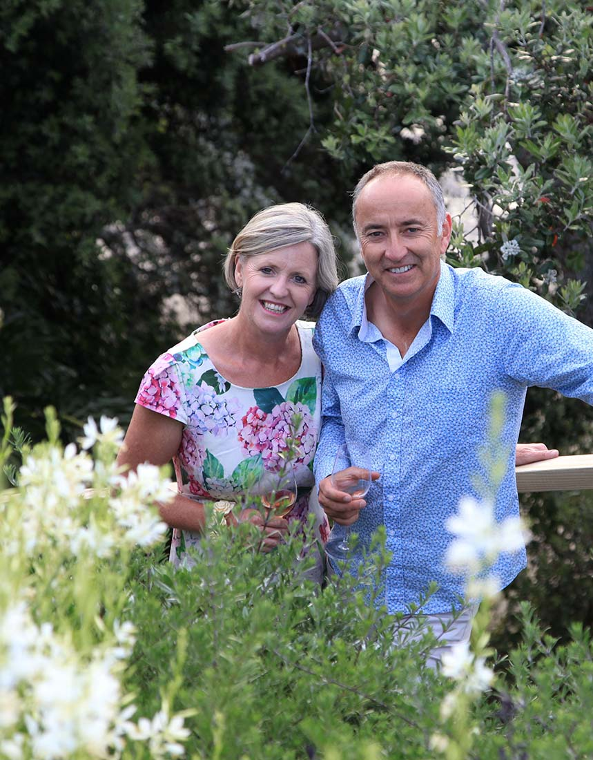 Michelle & David McDonnell at home in their spectacular garden